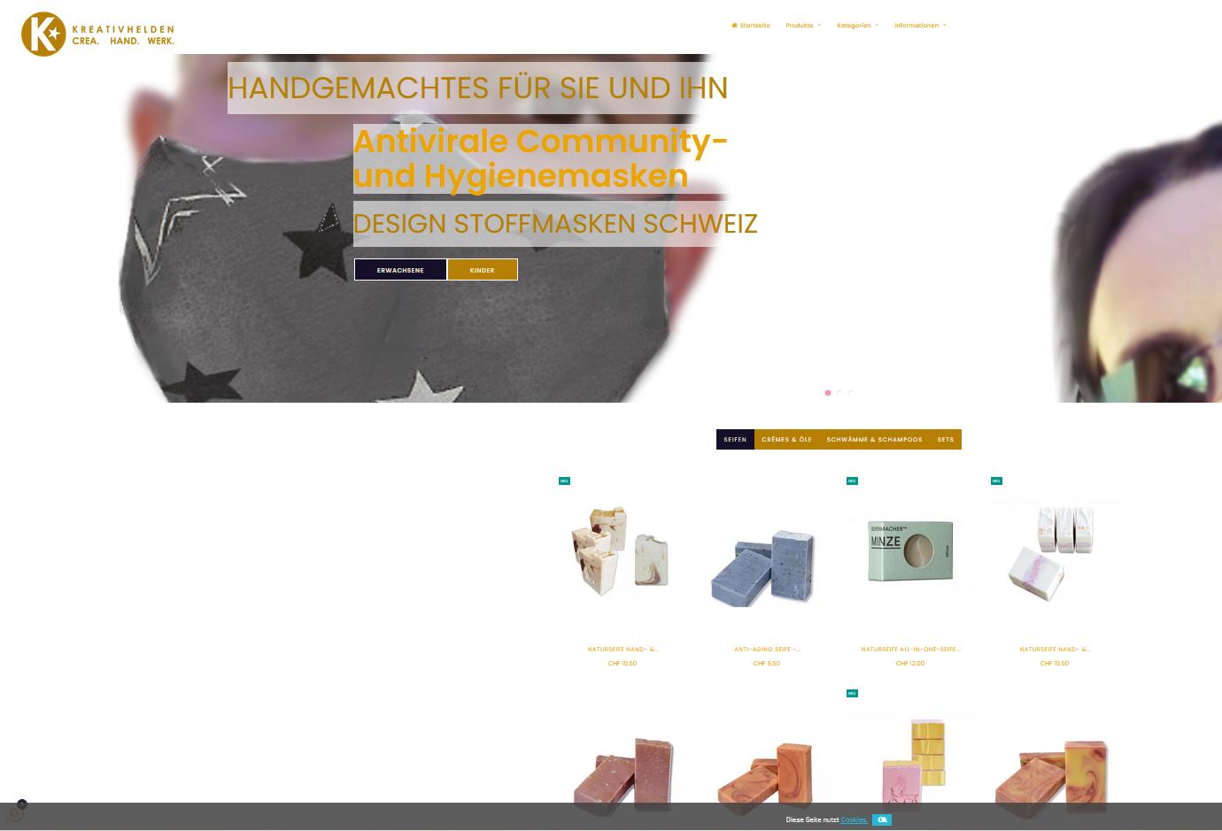 Kreativhelden - Online Shop